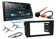 NEW KENWOOD STEREO RADIO W USB/AUX INPUTS & SIRIUS XM & INSTALL KIT FOR 02-05 A4