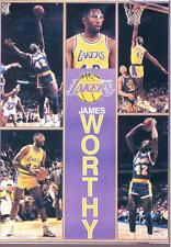 1990 Starline JAMES WORTHY Lakers Monster Poster MINI Promo Piece RARE