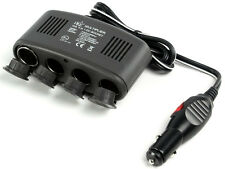 4 WAY 12V CAR POWER SOCKET MULTIPLIER WITH USB OUTPUT