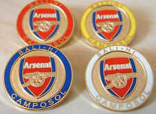 Arsenal RARISSIMO set di 4 BALI-Hi camposol Distintivo Spilla in dorati 25mm x 25mm