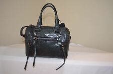 NWT $278 Botkier Logan Small Leather Satchel in Black/ Gunmetal Hardware