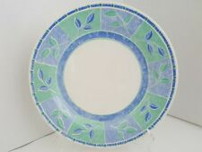 "CHURCHILL JAVA 10 1/4 "" DINNER PLATE Pastel Blue Green Leaves"