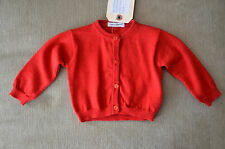 New $225 Dolce & Gabbana Infant Baby Girl Long Sleeve Red Sweater (3-6 Months)