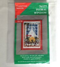 "Pretty little ""76577 Floral Window"" cross stitch kit by Craft Collection"