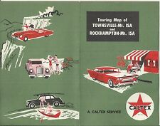 VINTAGE CALTEX  SERVICE STATION MAP OF TOWNSVILLE - Mt ISA  - ROCKHAMPTON QLD