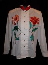 WRANGLER Western RODEO Applique & Embroidered SHOW Shirt Women's Size SMALL NWT