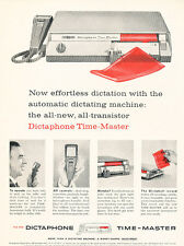 1958 Dictaphone Time-Master Voice Machine  Vintage Advertisement Print Ad J485