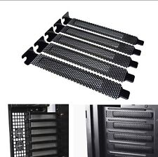 5x PCI Slot Cover Dust Filter Blanking Plate Hard Steel Black  A133