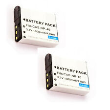 2X NP-40 NP-40DBA Batteries for Casio FC100 FC150 Z30 Z40 Z50 Z55 Z57 Z100 Z200