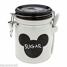 Disney Parks Gourmet Mickey Mouse Ceramic Kitchen Chalkboard Canister Cookie Jar