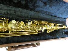 KING BY H.N. WHITE SOPRANO SAXOPHONE, COMPLETELY RESTORED WITH GOLD!