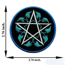 Blue Star Pentagram Magic Symbol Sign V07 Logo Applique Iron on Patch Sew Hat