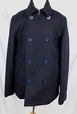 J.Crew Crewcuts $228 Boys Wool Peacoat With Thinsulate Navy Blue 14 NWT C8567