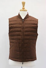 NWT $2430 Brunello Cucinelli Reversible Brown/Purple Puffer Goose Down Vest Sz M