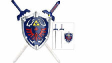 "Legend of Zelda 16.75"" Master Sword w Hylian Shield Replica Wall Display Statue"