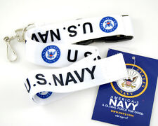 """Official Licensed Products Military White """"U.S.NAVY"""" Lanyards"""