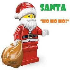 1pc Santa Claus Minifigure Bricks Toy Christmas Present Custom Lego #970