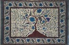 Handmade 100% Cotton Tree of Life Tapestry Tablecloth Spread Full 88x104 Purple