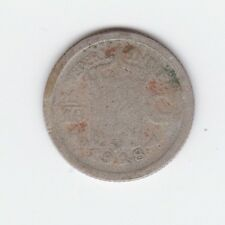 1918 NETHERLANDS EAST INDIES SILVER 1/10 GULDEN Coin S-519