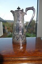 A HEAVY QUALITY VINTAGE A1 SHEFFIELD  SILVER PLATED LIDDED HOT WATER JUG