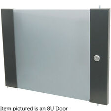 "19"" 8U Locking Glass Door For Rack/Data Cabinets-Patch Panel Storage Module PA"