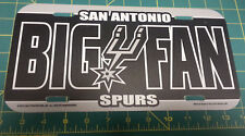 San Antonio Spurs Fan  NBA hard flexible plastic License Plate  made in the USA