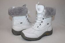 Ugg Australia Womens Adirondack Quilted Winter Snow White Color Boot Size 10 US