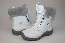 Ugg Australia Womens Adirondack Quilted Winter Snow White Color Boot Size 6 US