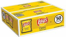 Lay's Classic Potato Chips Lunch Box Snacks Grab & Go Bags Gluten Free (50 ct.)