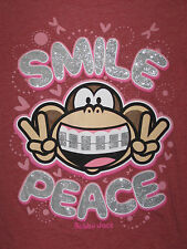 Girls Bobby Jack XL Long Sleeve T-Shirt - Smile, Braces, Peace, Monkey