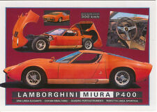 Lamborghini Muira Large Format MODERN postcard by Jenna