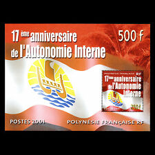 French Polynesia 2001 - 17th Anniv of Internal Autonomy Flag - Sc 804a MNH