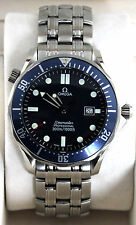 Omega Seamaster Professional Large Bond Blue Wave Pattern Diver Watch 2541.80
