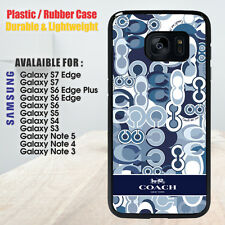 Coach Blue Pattern For Samsung Galaxy S4 S5 S6 Edge Plus S7 Note 3 4 5 Case