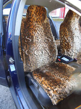 i - TO FIT A MITSUBISHI OUTLANDER PHEV CAR,FRONT SEAT COVER,GLD CHEETAH FAUX FUR