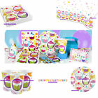 CUPCAKE PARTY TABLEWARE CUPS, PLATES, TABLECLOTH, NAPKINS, BANNER, PARTYBAGS