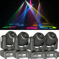 4PCS RGBW LED Moving Head Light New DMX-512 Stage Party DJ Wash Beam Lighting