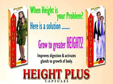 Height Plus Herbal Capsules Gain Enhancer Increase Stature Supplement Taller