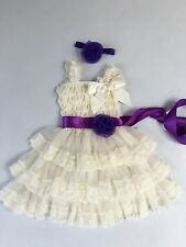 Flower Girl Dress girl Lace dress Baby Lace Dress-Rustic-Country all kids sizes