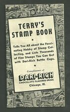 1939 Terrys Stamp Book Compliments of Dari Rich Chocolate Flavored Drink