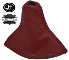 DARK RED REAL LEATHER FITS AUDI TT MK1 1998-2006 GEAR GAITER SHIFT BOOT COVER