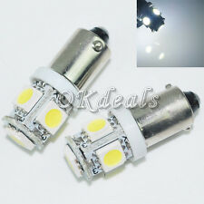 2 x White Super Bright T11 BA9S 5050 SMD 5 LED Car Light Bulb Lamp 12V