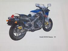 SUZUKI RG 500 PARTS LIST MANUAL CATALOGUE - PAPER COPY BOUND not PDF