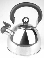 2.5L Stainles Steel Whistling Kettle Kitchen Gas Hob Camping Fishing Traveling