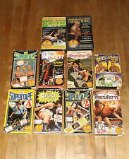 lot of 10 WWF WWE COLISEUM big box vhs videos plus bonus 5 videos