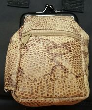 Snakeskin Eclipse Leather Cigarette 2 Zippers/Coin Purse Up To 100's