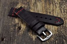 Mens watch strap leather 18 mm 20mm 22mm 24mm watch band Handmade