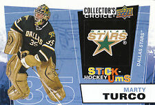 08-09 UPPER DECK COLLECTORS CHOICE STICK-UMS #UMS18 MARTY TURCO STARS *8211