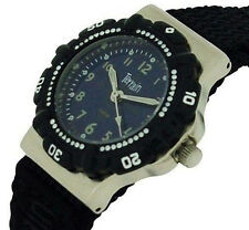 Terrain Boys Black Sports Surf Watch Water Resistant Velcro Strap TV-969L