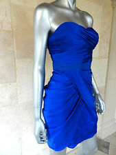 Aqua Blue Sweetheart Neck Drapey Lined Cocktail Party Prom Wedding Dress Sz 8NWT
